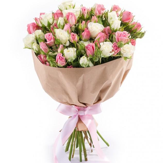 Букет из кустовых роз № 7